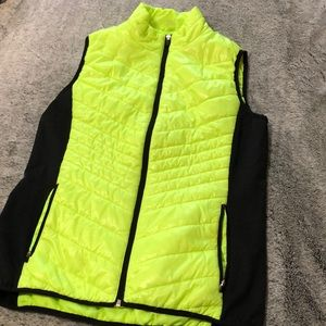 Women's Neon Puffy Vest